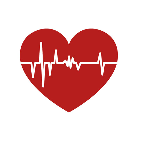 frequency: heart cardiology cardio frequency pulse rhythm medical vector illustration