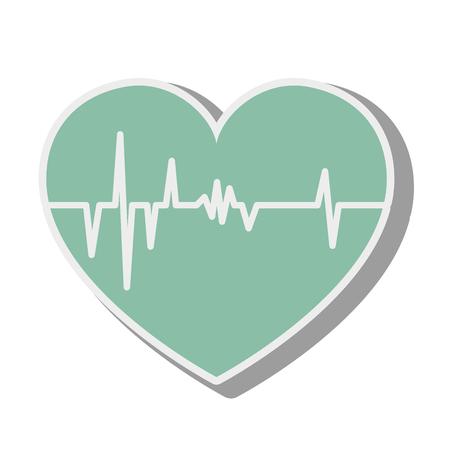 cardio: heart cardiology cardio frequency pulse rhythm medical vector illustration