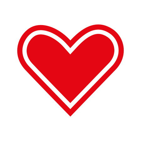 amour: heart love romance passion amour red vector illustration