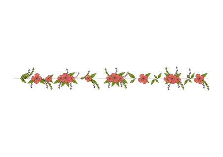 petal: flower floral ornament decorative leaves petal blossom vector illustration Illustration