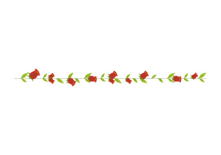 petal: roses flower floral ornament decorative leaves petal blossom vector illustration