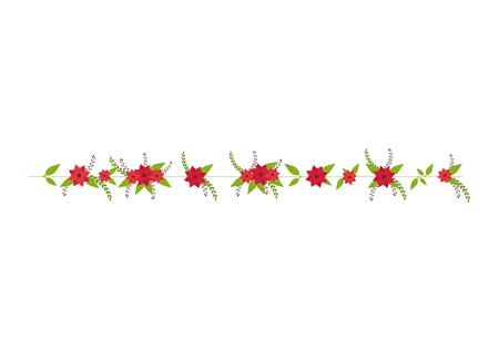 petal: flower floral ornament decorative leaves petal blossom vector illustration Illustration