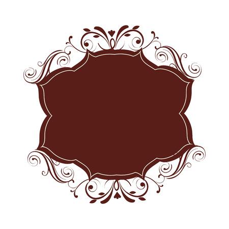 edwardian: frame victorian vintage old ornate decorative vector illustration Illustration