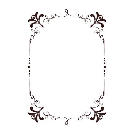 frame victorian vintage old ornate decorative vector illustration Illustration