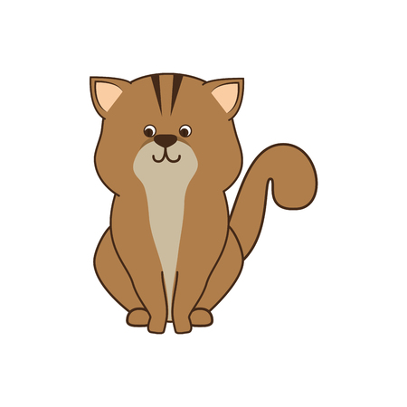 feline: cat cartoon animal feline mascot pet domestic vector illustration Illustration