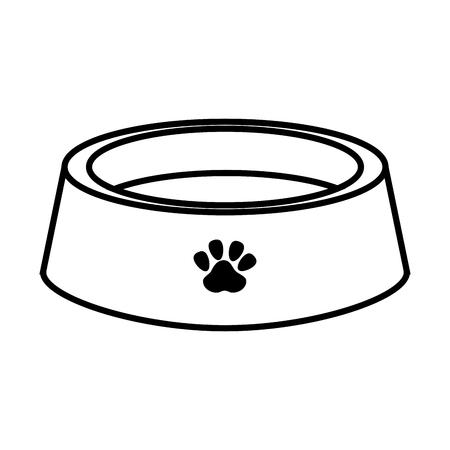 犬ペット皿プレート食品栄養要素ベクトル図