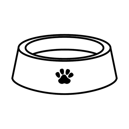 alimentation: dog  pet dish plate food alimentation element vector illustration