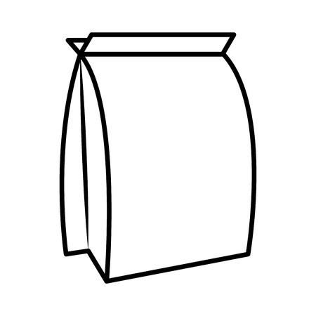 petshop: food bag product packaging for pet dog cat vector illustration