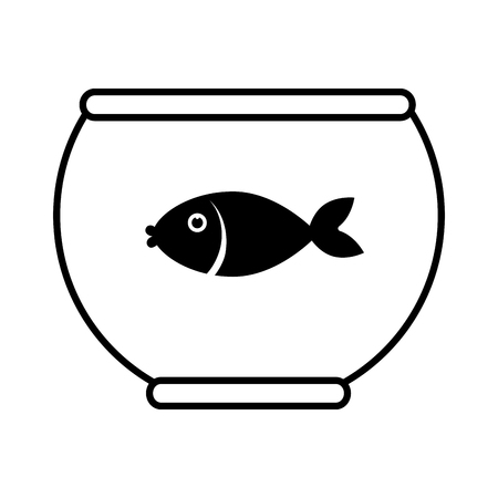 bol de poisson animal eau vecteur mascotte animal illustration