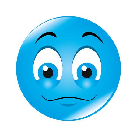 expresión de dibujos animados emoticon de los sentimientos y emociones ilustración vectorial