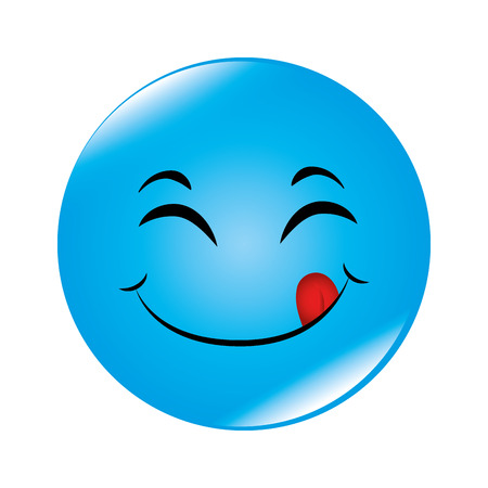 hapiness: emoticon cartoon expression of feelings and emotions vector illustration