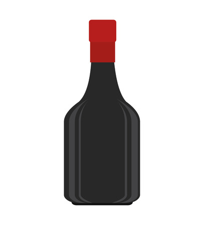 winery: wine alcohol liquor drink bottle beverage winery vector illustration