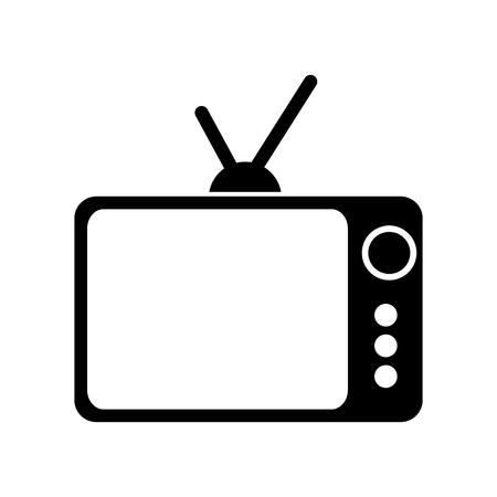 Retrò o vintage tv vecchia televisione antica illustrazione vettoriale Vettoriali
