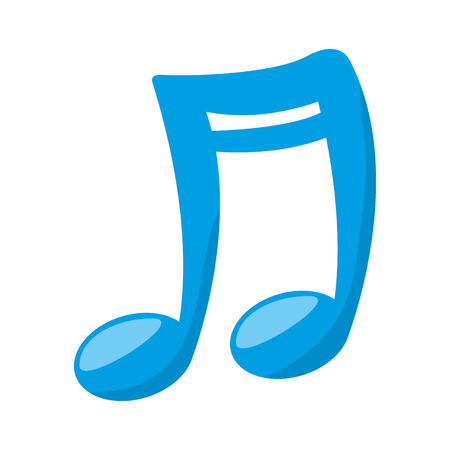 melody: music note melody musical music sound vector illustration