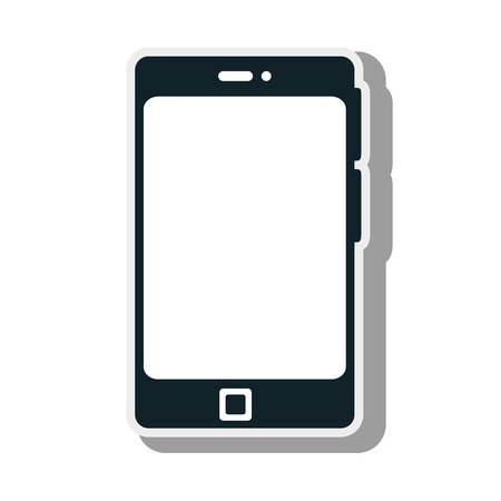 touch screen phone: smartphone phone technology device touch screen vector illustration