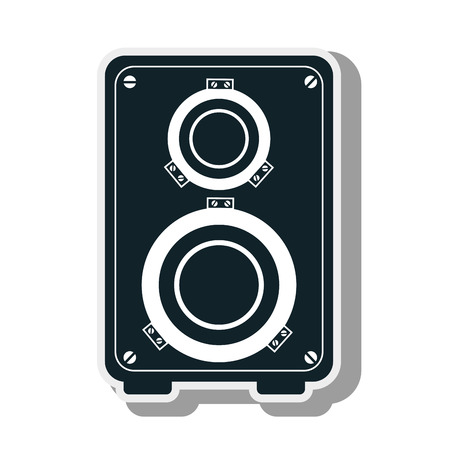 tweeter: audio speaker bass musical equipment and technology device vector illustration