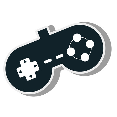 component parts: control console virtual game technology device vector illustration Illustration