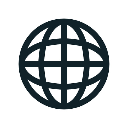 corporation: global earth connection corporation globe symbol vector illustration Illustration