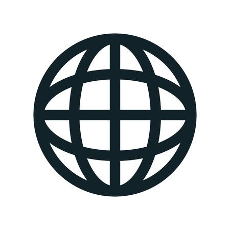 picto: global earth connection corporation globe symbol vector illustration Illustration
