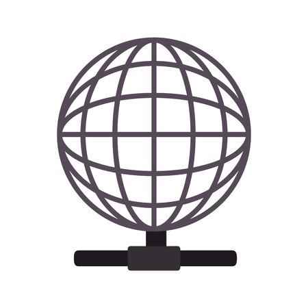corporation: global earth host technology connection corporation globe symbol vector illustration