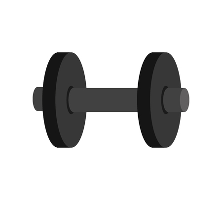weights: gym dumbbells heavy weights sport and fitness equipment vector illustration Illustration