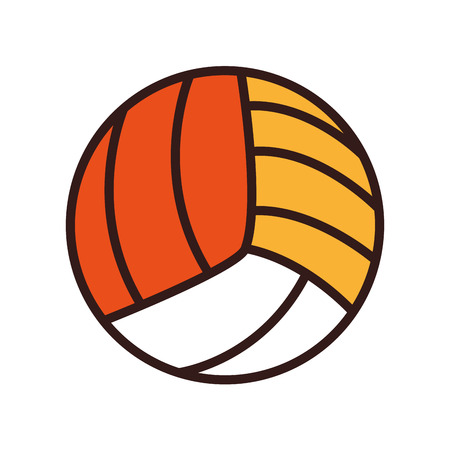 volleyball ball sport fun game exercise and fitness activity vector illustration Illustration