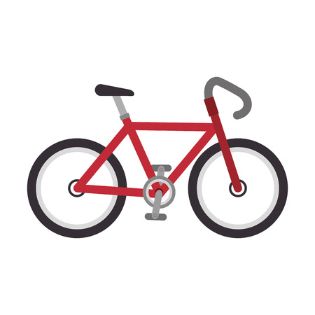 bicycle ride cyclism vehicle transport sport symbol vector illustration Illustration