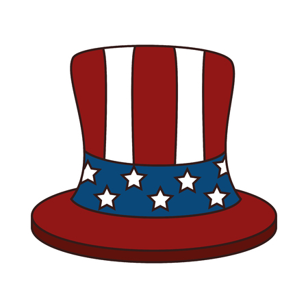 patriot: hat accesory of usa flag celebration patriot vector illustration