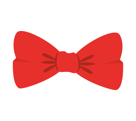 accesory: red bow tie clothes accesory vector illustration