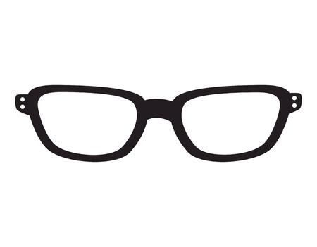 eyewear: glasses fashion eyewear hipster style accessory vector illustration Illustration