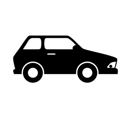car vehicle transportation automobile side view vector illustration