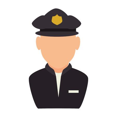 traffic officer: police man traffic officer law security vector illustration Illustration