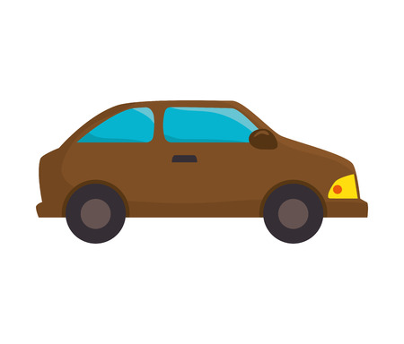 car vehicle transportation automobile view vector illustration Illustration