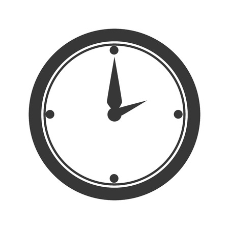 clock work: clock work office desk utensils workplace objects vector illustration