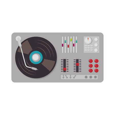 electronic device: music dj party turntable technology and electronic device vector illustration