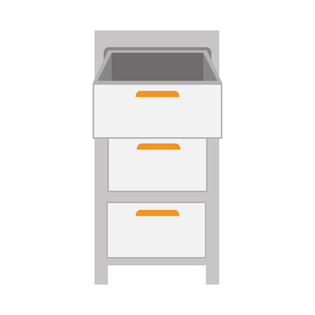file cabinet: file cabinet office and desk furniture vector illustration