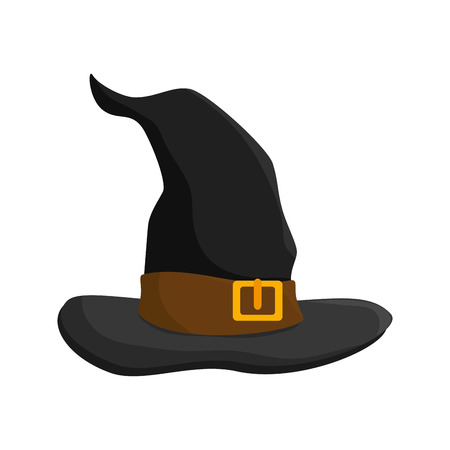 witch costume hat halloween clothes object vector illustration Illustration