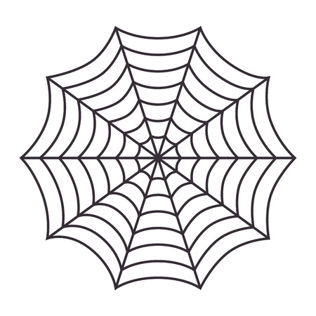 arachnid: cobweb arachnid spider web halloween season vector illustration