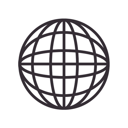 picto: global icon globe connection network worldwide map corporation vector illustration