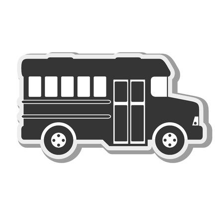 transportation silhouette: transport vehicle bus urban travel transportation silhouette vector illustration
