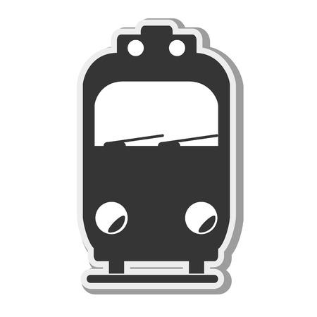 locomotion: transportation vehicle public train underground railway vector illustration Illustration