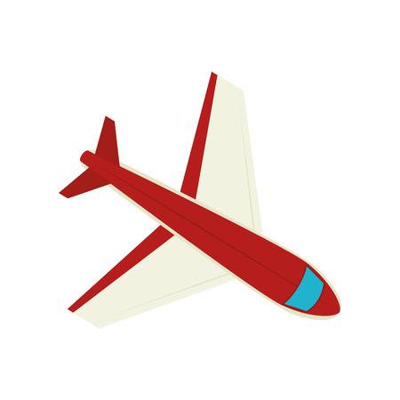 airplane vehicle travel transportation flying vector illustration