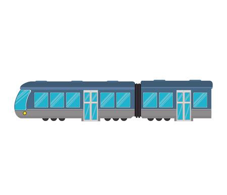 railway transportation: transportation vehicle public train underground railway vector illustration Illustration