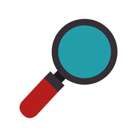 magnifying glass science and investigation tool vector illustration