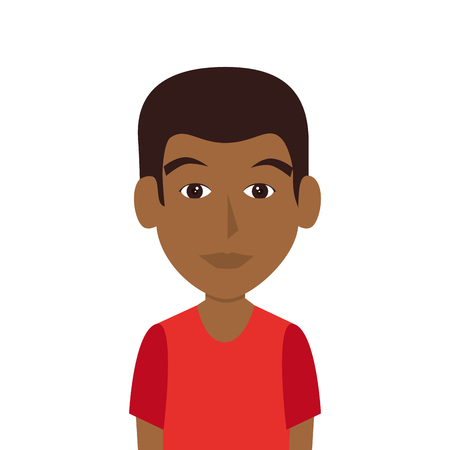 avatar man wearing  casual clothes front view vector illustration Illustration