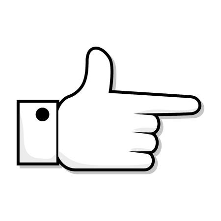 hand pointing finger direction gesture and communication vector illustration Illustration