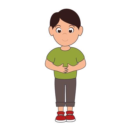 hapiness: little boy smiling smile hapiness kid child cute fun vector illustration Illustration