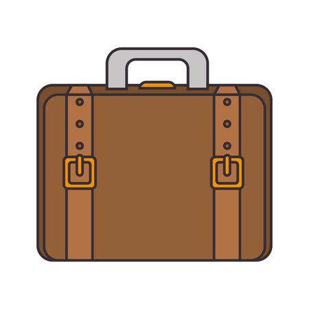leather bag: briefcase portfolio leather belt accessory hand  bag vector illustration Illustration