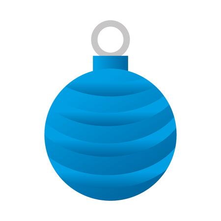 title emotions: christmas season decoration blue ball decoration vector illustration