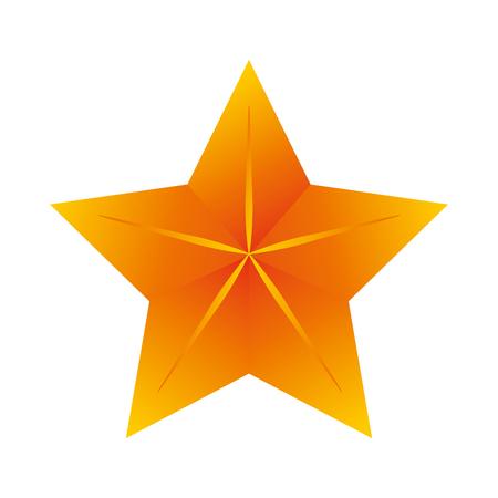 jewell: star gold shiny decoration sign object symbol vector illustration Illustration